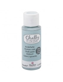 Chalky Finish for glass, blue grey, bottle 59ml