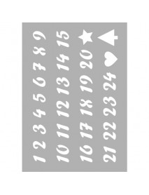 STENCIL ΕΠΑΝΑΤΟΠΟΘΕΤΙΣΗΣ A5 Numbers  210x148mm