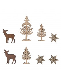 ΞΥΛΙΝΑ ΔΙΑΚΟΣΜΗΤΙΚΑ Winter forest 0.5cm 8ΤΕΜ