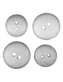 ΞΥΛΙΝΑ ΚΟΥΜΠΙΑ silver, 1.5cm + 1.8cm 14ΤΕΜ