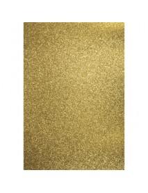 ΧΑΡΤΙ SCRABBOKING ΜΕ GLITTER A4 GOLD