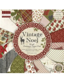 Scrap-Block sort. Vintage Noel, 15.2x15.2cm, 64ΦΥΛΛΑ