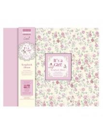 ΛΕΥΚΩΜΑ Scrapbooking It's a Girl, 30.5x30.5cm, 20 pages