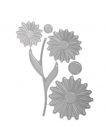Punching stencil Set: Build a Daisy, 1,5-12,5cm