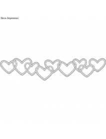 PUNCING STENCIL: DANCING HEARTS 10.7x2.3cm