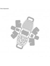 PUNCING STENCIL:HANDBAG GIFT BOX 21.1x23.4cm