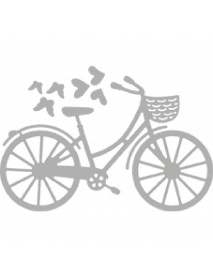 Punch stencil: Bicycle, 8x5.1cm 3ΤΕΜ