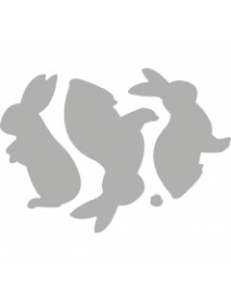Punch stencil: Easter Bunnies, 9.7x4.6cm 4tem