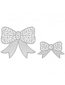 Delicate Die- Bows, 6,4x4cm+8,4x7,5cm 2τεμ