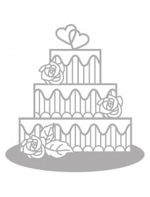 Delicate Die- Tiered Cake, 11,1x11,6cm