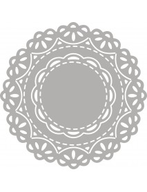 Punch template set: Lace Doily, 4.3-7.5cm 2τεμ