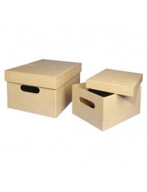 Papier-mache box, FSC Recycled 100%, 26x18.5x13cm