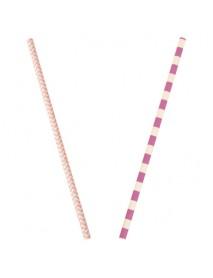 ΧΑΡΤΙΝΑ ΚΑΛΑΜΑΚΙΑ 25ΤΕΜ Pink striped