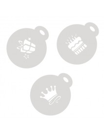 SET 3 STENCIL FOR CUPCAKES&CAPPUCCINO 10CM