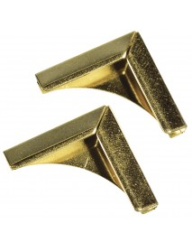 Metal edges for book covers gold 21x21mm 4TEM