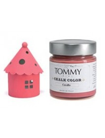 CHALK BASED ACRYLIC PAINT 140ML CORAL RED