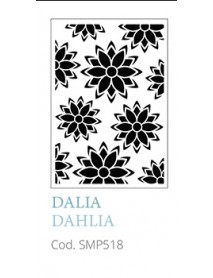 STENCIL A5 DAHLIA