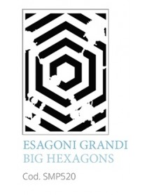 STENCIL A5 BIG HEXAGONS