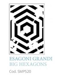 STENCIL A5 BIG HEXAGONS