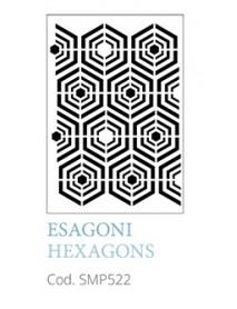 STENCIL A5 HEXAGONS