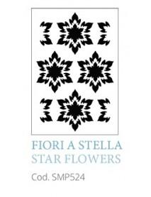 STENCIL A5 STAR FLOWERS