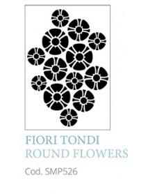 STENCIL A5 ROUND FLOWERS
