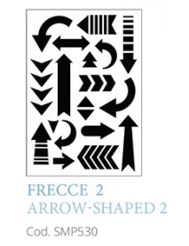 STENCIL A5 ARROW SHAPED 2