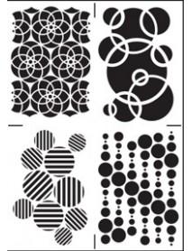 STENCIL CIRCLES 20X30CM