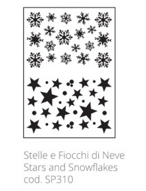 STENCIL STARS AND SNOWFLAKES 20X30CM