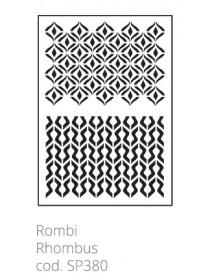 STENCIL RHOMBUS 20X30CM