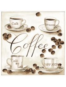 COCTAIL NAPKIN 25X25 COFFEE TIME