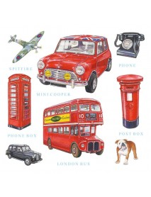 NAPKIN 33X33 LONDON ICONS