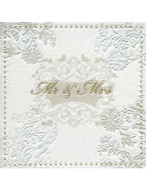 NAPKIN 33X33 MOMENTS MR & MRS GOLD