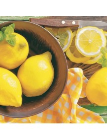NAPKIN 33X33 LEMONS IN BOWL
