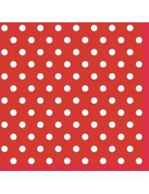 NAPKIN 33X33 RED DOTS II