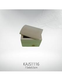 ΞΥΛΙΝΟ ΚΟΥΤΙ ΜΕ ΚΑΜΠΥΛΩΤΟ ΚΑΠΑΚΙ 7.5x6x5.5CM