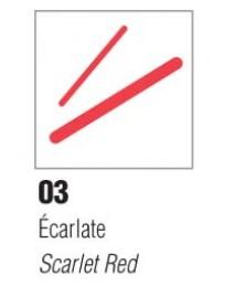 P150 FEUTRE P.FINES ECARLATE