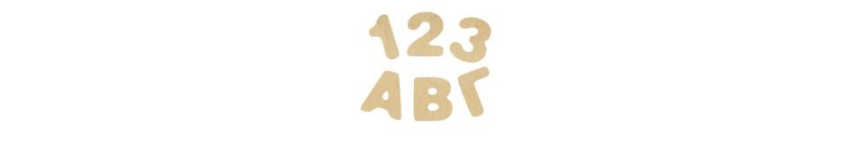 Ελληνικά γράμματα - αριθμοί 14cm