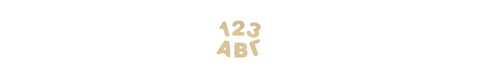 Ελληνικά γράμματα - αριθμοί 4cm