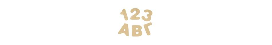 Ελληνικά γράμματα - αριθμοί 7cm